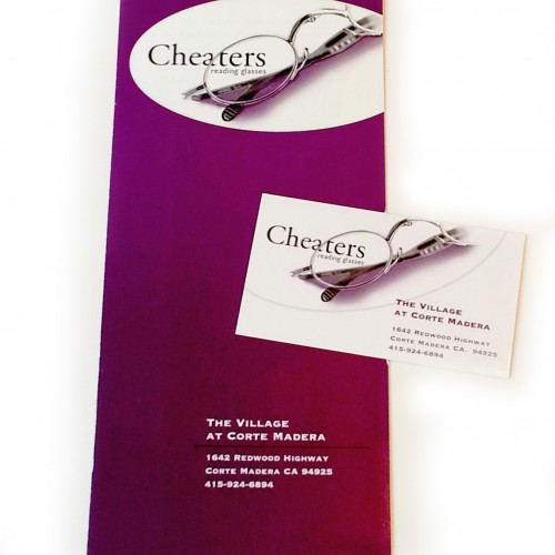 Cheaters brochure and card copy